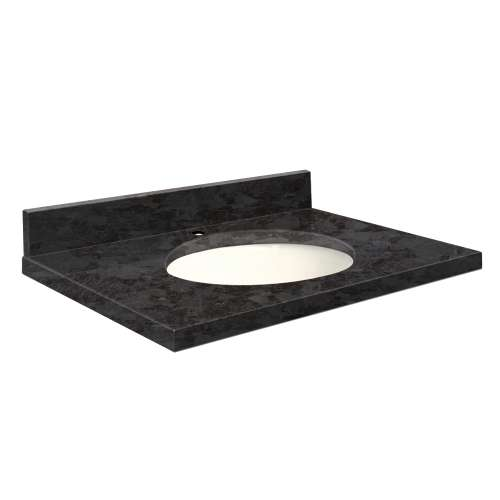Transolid Granite 25-in x 19-in Vanity Top with Eased Edge