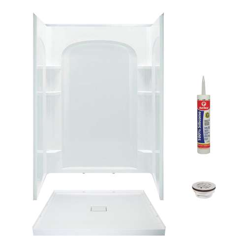 Transolid 48-in x 34-in Low Profile Shower Kit with Center Drain KCS-FLUN4834C-31-M
