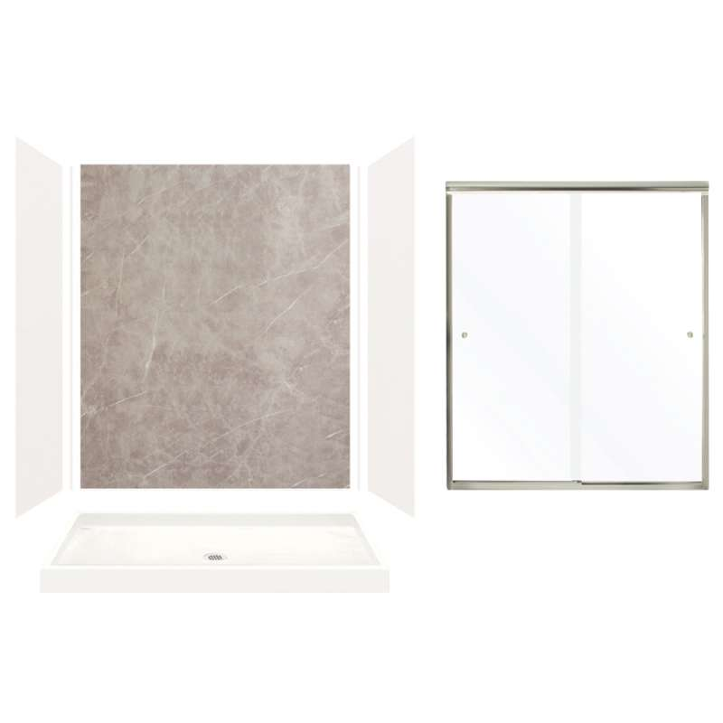 Bisque Transolid EWK603272-38 Expressions 3-Panel Shower Wall Kit 32-in L x 60-in W x 72-in H