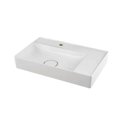 Transolid Martha Vitreous China 23-in Rectangular Vessel Sink with Single Hole