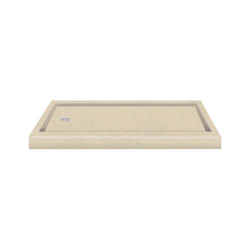 Transolid Decor Solid Surface  60-in x 32-in Shower Base with Left Drain