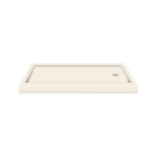 Transolid Decor Solid Surface  60-in x 32-in Shower Base with Right Drain
