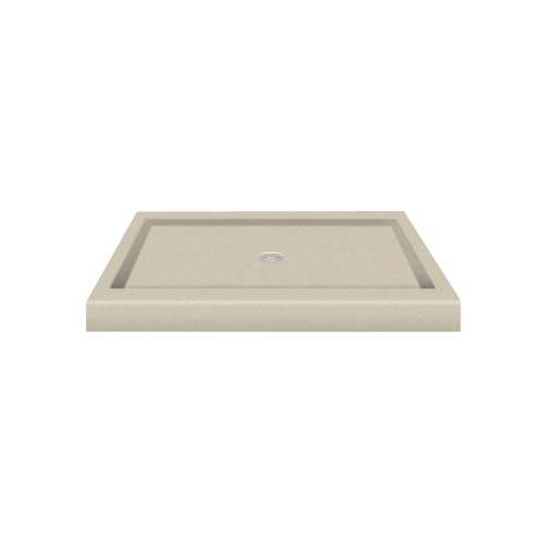 Transolid Decor Solid Surface 48-in x 34-in Shower Base with Center Drain