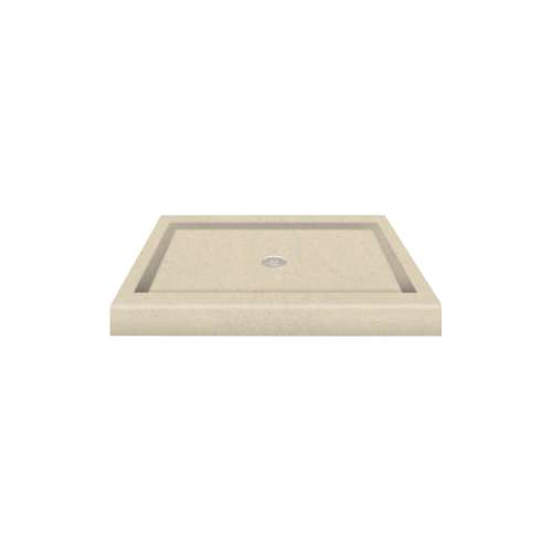 Transolid Decor Solid Surface 36-in x 36-in Shower Base with Center Drain