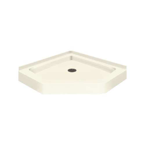 Transolid Decor Solid Surface 38-in x 38-in Neo-Angle Shower Base with Center Drain