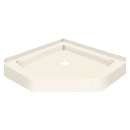 Transolid Decor Solid Surface 42-in x 42-in Neo-Angle Shower Base with Center Drain