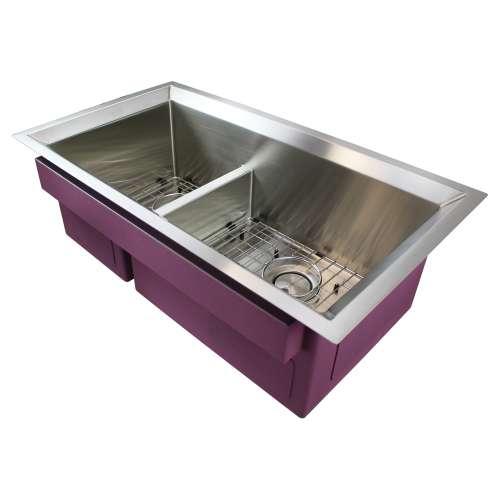 Transolid Studio Stainless Steel 33-in Undermount Kitchen Sink