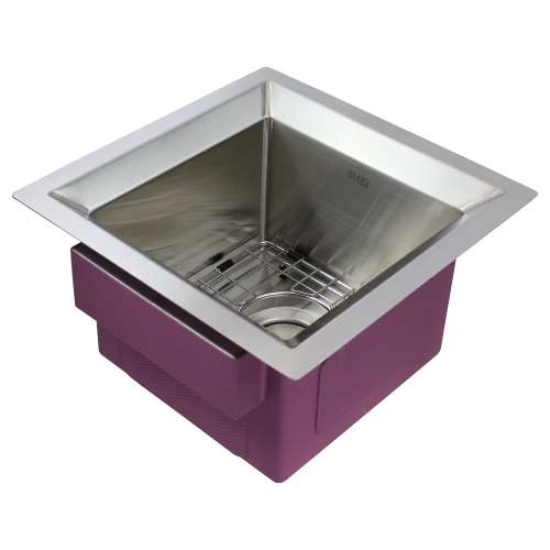 Transolid Studio Stainless Steel 15-in Undermount Kitchen Sink