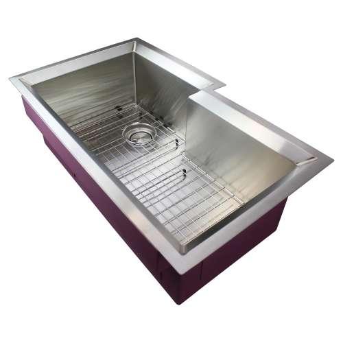 Transolid Studio Stainless Steel 35-in Undermount Kitchen Sink