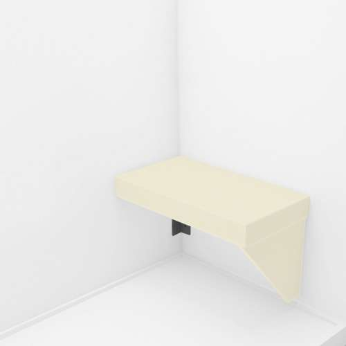 Transolid Studio Rectangular Shower Seat in Biscuit