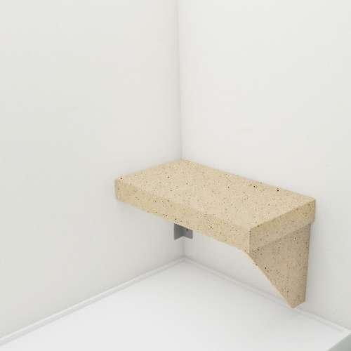 Transolid Studio Rectangular Shower Seat in Matrix Khaki
