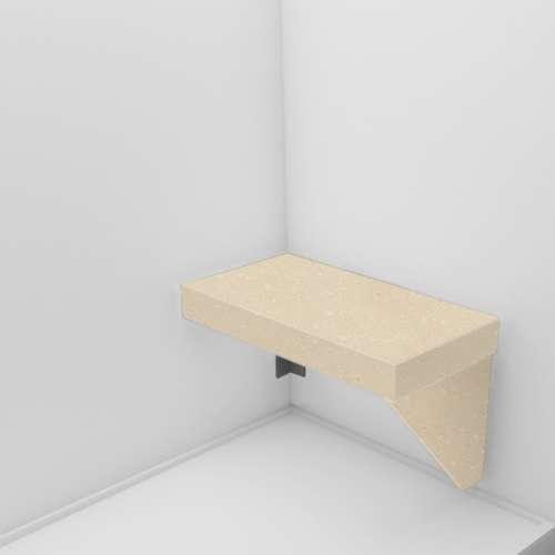 Transolid Studio Rectangular Shower Seat in Sea Shore