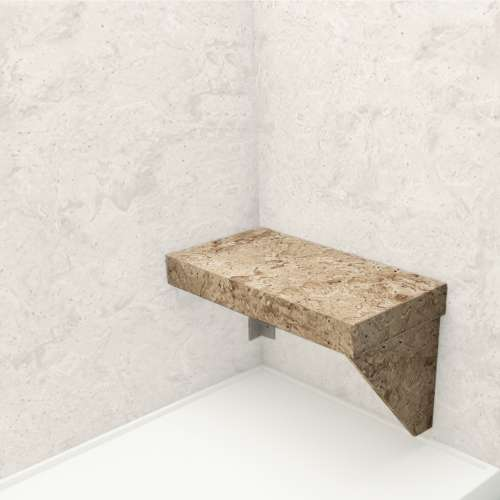 Transolid Studio Rectangular Shower Seat in Sand Mountain
