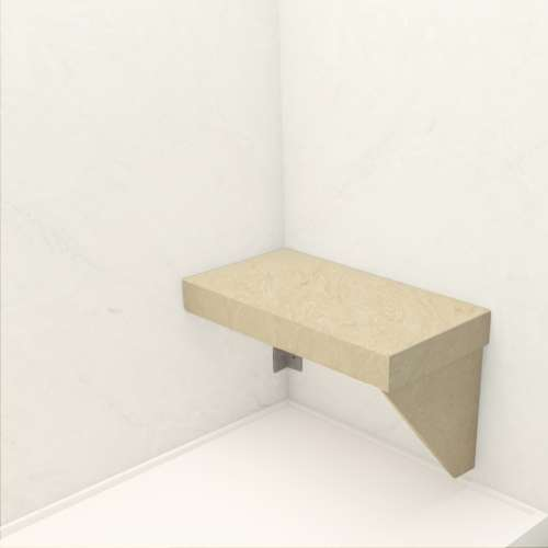 Transolid Studio Rectangular Shower Seat in Almond Sky