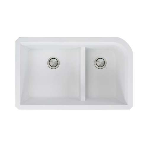 Transolid Radius Granite 31-in Undermount Kitchen Sink