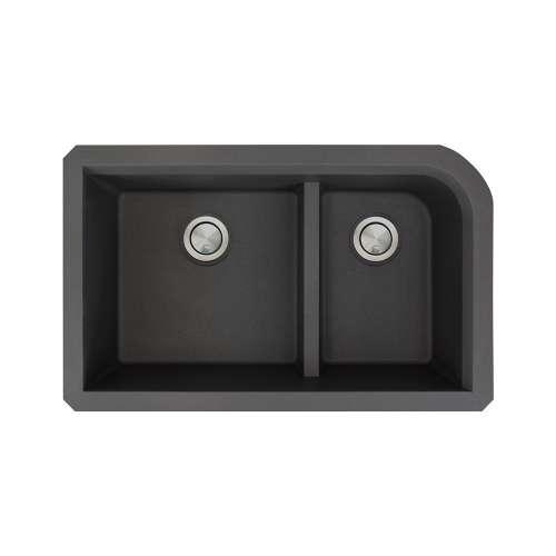 Transolid Radius Granite 31-in Undermount Kitchen Sink