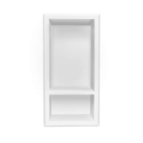 Transolid RWSV0715-01 Studio Vertical Shower Caddy in White