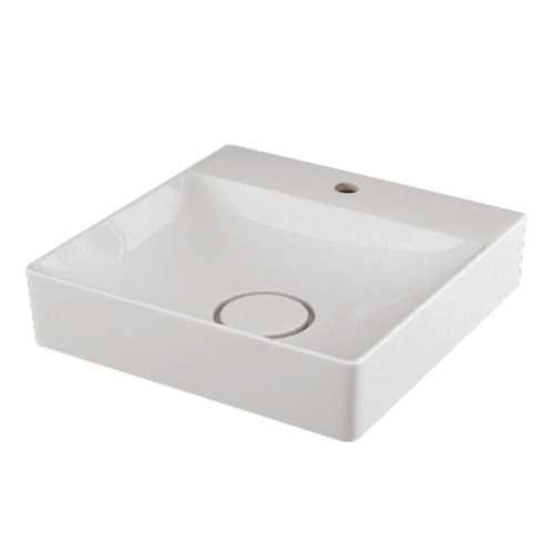 Transolid Rachel Vitreous China 15.75-in Rectangular Vessel Sink with Single Hole