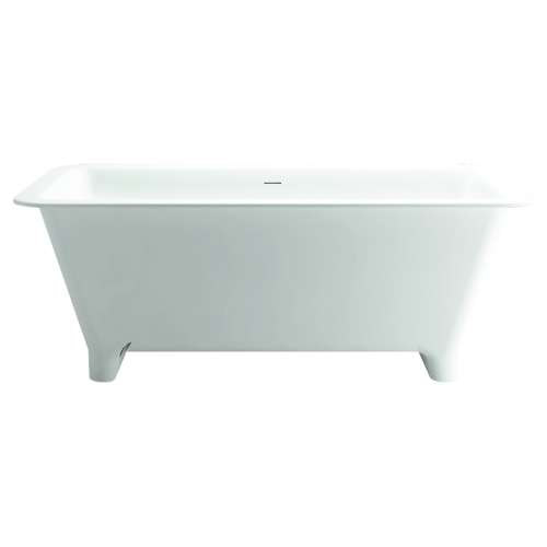 Transolid SMN6030 Milan 60in. Freestanding Resin Stone Bathtub with Center Drain, in White