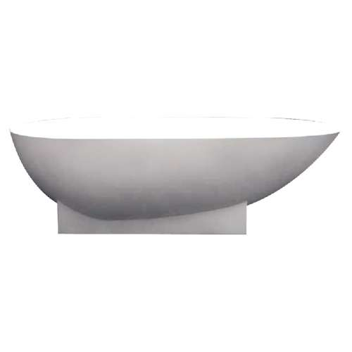 Transolid Shea 72-in L x 36-in W x 20-in H Resin Stone Freestanding Bathtub with center drain, in White