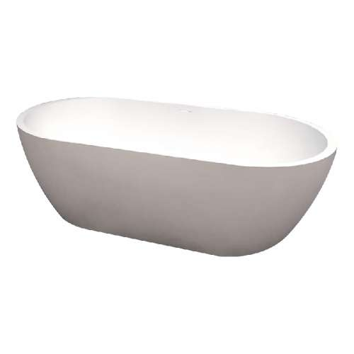 Transolid Sherwood Grande 71-in L x 32-in W x 21-in H Resin Stone Freestanding Bathtub with center drain, in White