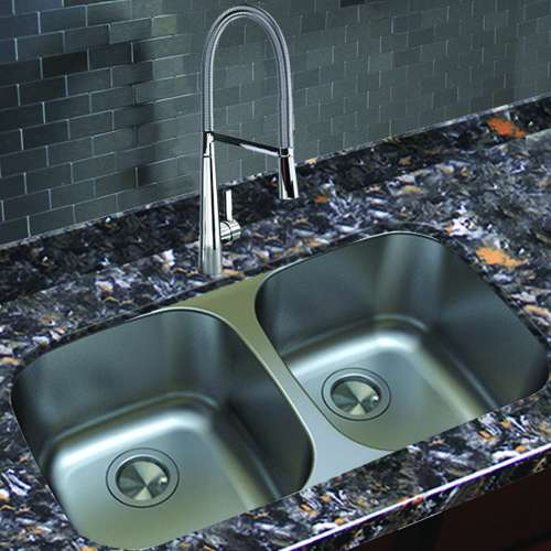 Transolid Select Equal Double Stainless Steel Kitchen Sink