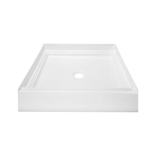 Transolid T3 32-in x 32-in Square Alcove Shower Base with Center Drain - In Multiple Colors