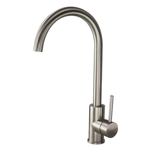 Transolid Cameron Kitchen Faucet with Single Handle includes deck plate, Luxe Stainless