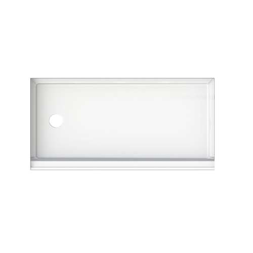 Transolid T3 60-in x 30-in Rectangular Alcove Shower Base with Left Drain - In Multiple Colors