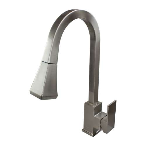 Transolid Kent Pull-Out Kitchen Faucet in Luxe Stainless