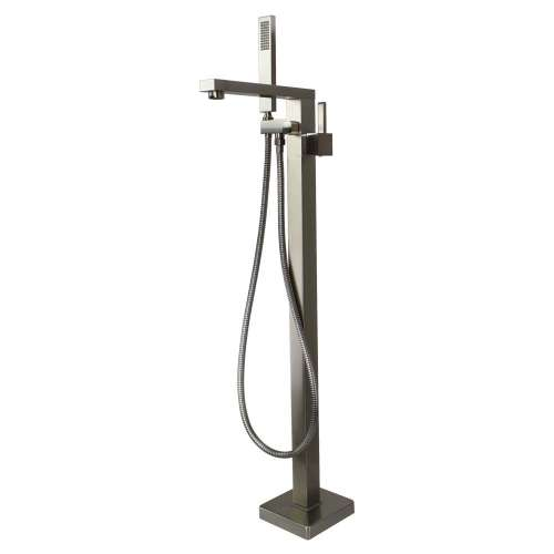 Transolid Ardell Free Standing Tub Filler With Hand Shower, Brushed Nickel