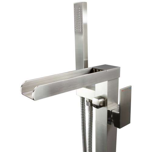 Transolid Roslyn Floor Mounted Tub Filler with Hand Shower T4240-BN-M