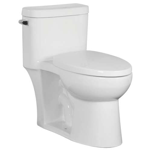 Transolid Garfield 1-Piece Elongated Vitreous China 1.28 gpf Toilet with toilet seat, White