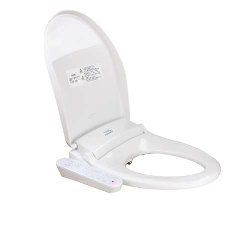 Transolid TE100 Elongated Bidet Toilet Seat in White
