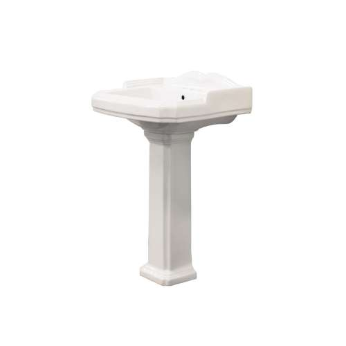 Transolid Harrison Vitreous China Lavatory Sink with 4-in centers for use with TP-1480 Pedestal Leg
