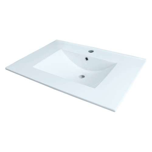 Transolid Juliette 25-in Vitreous China with Integrated Sink