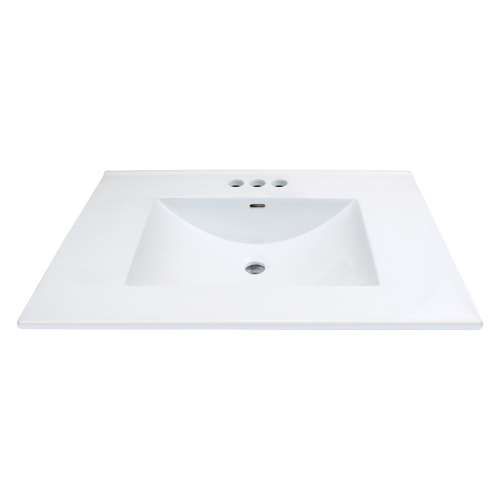 Transolid Juliette 25-in Vitreous China with Integrated Sink - 4cc Faucet Holes