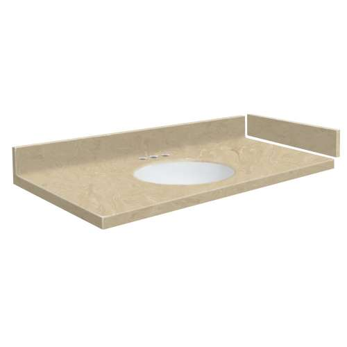 40 in. Solid Surface Vanity Top in Almond Sky with 4in Centerset