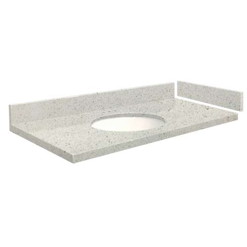 54.75 in. Quartz Vanity Top in Almond Delite with 4in Centerset