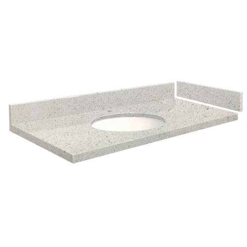 49.5 in. Quartz Vanity Top in Almond Delite with Single Hole
