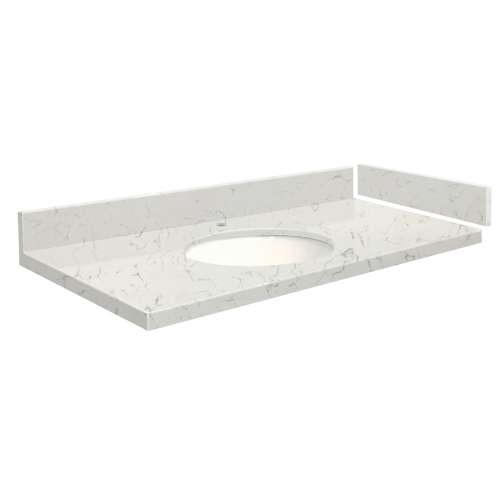 48.75 in. Quartz Vanity Top in Antique White with Single Hole