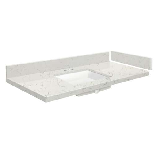 42.5 in. Quartz Vanity Top in Antique White with 4in Centerset