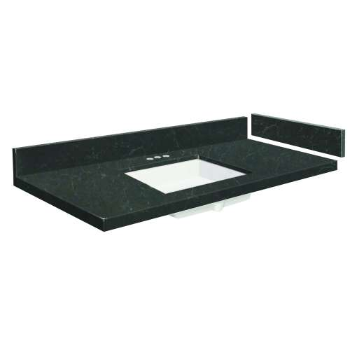 43.25 in. Quartz Vanity Top in Black Carrara with 4in Centerset