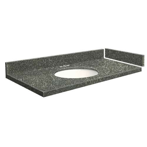 49 in. Quartz Vanity Top in Greystone with 4in Centerset
