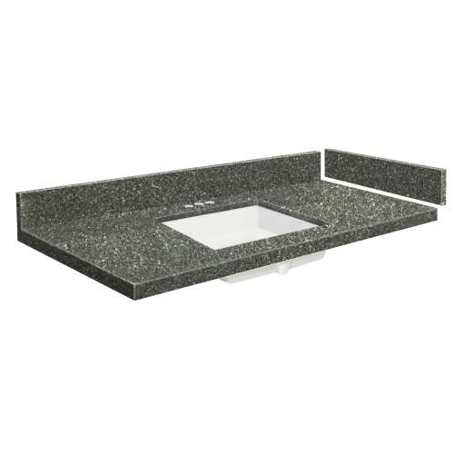 43.25 in. Quartz Vanity Top in Greystone with 4in Centerset