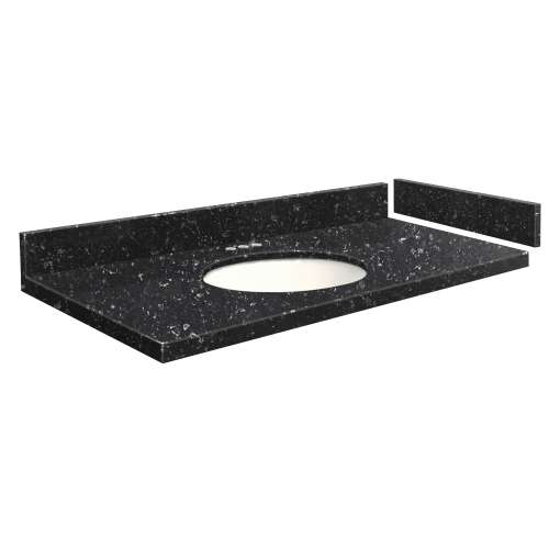48.75 in. Quartz Vanity Top in Interlude with 4in Centerset