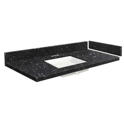 42.5 in. Quartz Vanity Top in Interlude with 4in Centerset