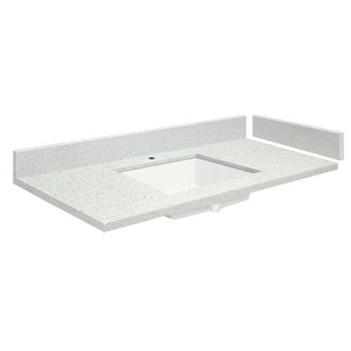 49.5 in. Quartz Vanity Top in Milan White with Single Hole