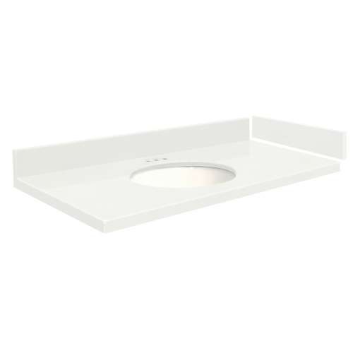 48.75 in. Quartz Vanity Top in Natural White with 4in Centerset