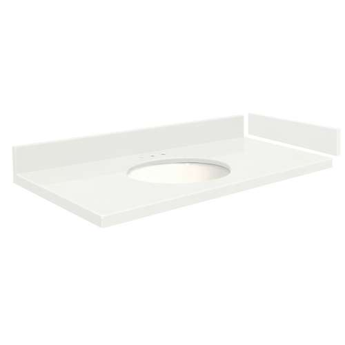 48.75 in. Quartz Vanity Top in Natural White with 8in Centerset